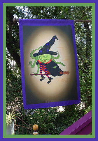 I'm-Flying!-28x40-House-Flag-Fly-Me-The-Sunny-Breezes-Decorative-Flags-Collection-from-T-Cards-by-Bad-Ballerinas-Halloween-Photo-Borders