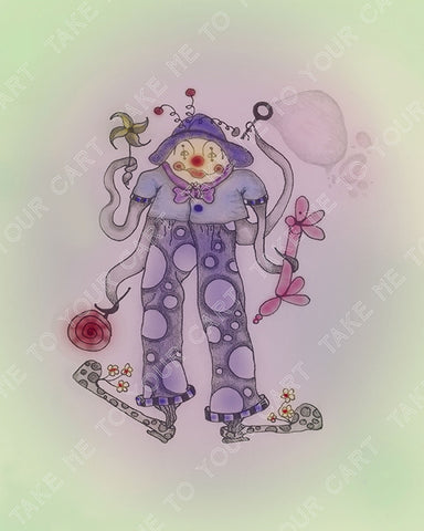 Le-Bozo-Joyeuse-Circus-Smircus-designed-by-T-Cards-by-Bad-Ballerinas-Print