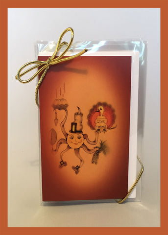Leftovers-Thanksgiving-The-Little-Ones-Set-of-6-Gift-Enclosures-Fall-Winter-Holiday-Fare-T-Cards-by-Bad-Ballerinas