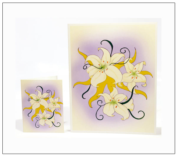 Lilies-Sympathy-Heartfelt-Moments-Holiday-Fare-Artisan-Greeting-Card-designed-by-T-Cards-by-Bad-Ballerinas-Card-Gift-Enclosure-Photo