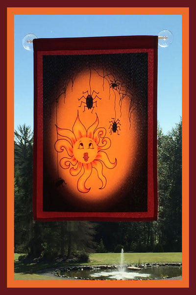 Little-Sun-Muffet-12x18-Garden-Window-Flag-Fly-Me-The-Sunny-Breezes-Decorative-Flags-Collection-from-T-Cards-by-Bad-Ballerinas-Halloween-Photo-Borders