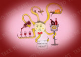 Monsieur Merlot Artisan T-Card by Bad Ballerinas Epicurean Delights Greeting Card Note Card Gift Enclosure