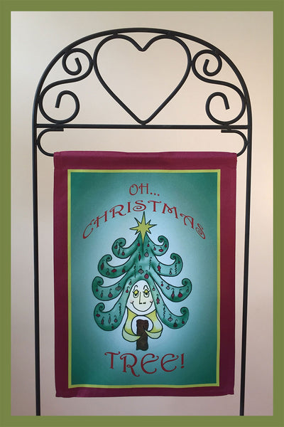 Oh-Christmas-Tree-12x18-Garden-Window-Flag-Fly-Me-The-Sunny-Breezes-Decorative-Flags-Collection-Christmas-T-Cards-by-Bad-Ballerinas-Photo-Stand