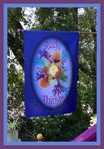 Reefy-Things-28x40-House-Flag-Fly-Me_-The-Sunny-Breezes-Decorative-Flags-Collection-designed-by-T-Cards-by-Bad-Ballerinas-Photo-Nature's-Gifts