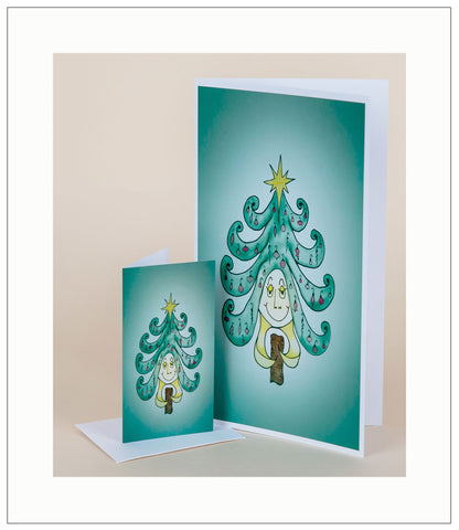 Sun-Imitating-Tree-Christmas-Fall-Winter-Holiday-Fare-T-Cards-by-Bad-Ballerinas-Gift-Enclosure-Nurthen