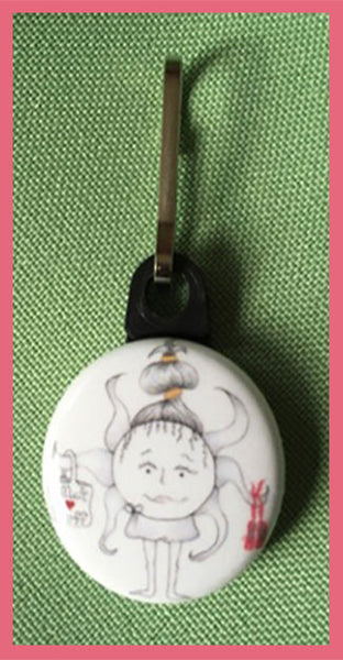 Sunnie-Bun-The-Sunerinas-Ups-and-Downs-Zipper-Pulls-Collection-designed-by-T-Cards-by-Bad-Ballerinas