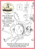 Sunnie-Bun's-Sunerinas-Dreams-A-Make-Believe-Story-to-Color-designed-by-T-Cards-by-Bad-Ballerinas-Coloring-Books-Black-Swun