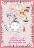 Sunnie-Bun's-Sunerinas-Dreams-A-Make-Believe-Story-to-Color-designed-by-T-Cards-by-Bad-Ballerinas-Coloring-Books-Cover