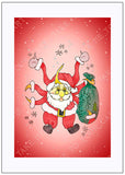 Sunta-Claus-Christmas-Fall-Winter-Holiday-Fare-T-Cards-by-Bad-Ballerinas-Gift-Enclosure-Border