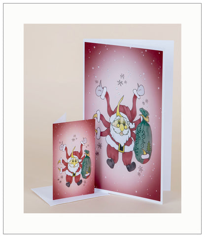 Sunta-Claus-Christmas-Fall-Winter-Holiday-Fare-T-Cards-by-Bad-Ballerinas-Gift-Enclosure-Nurthen