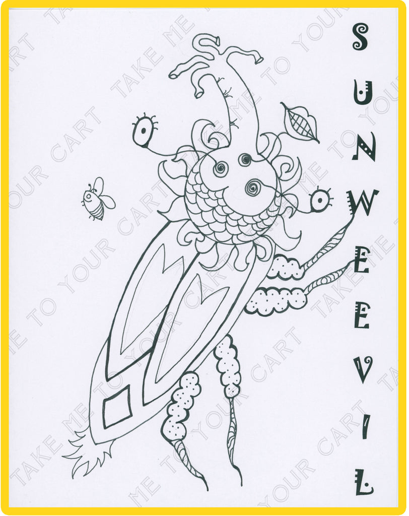 Sunweevil Sunbuggies I Love Colors Kids Coloring Book From T Cards By Bad Ballerinas Artisan