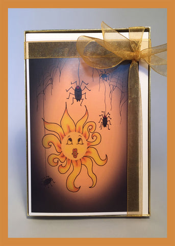 Trick-or-Treat-Halloween-Ready-Set-Gift-Box-of-6-Fall-Winter-Holiday-Fare-Collection-T-Cards-by-Bad-Ballerinas