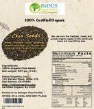 Indus Organics Black Chia Seeds, 2 Lb Bag, Sulfite Free, No Added Sugar, Premium Grade, High Purity, Freshly Packed