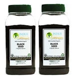 Indus Organics Black Seeds, Black Cumin, (Nigella Sativa) 1 Lb, (X2 Jars), Freshly Packed