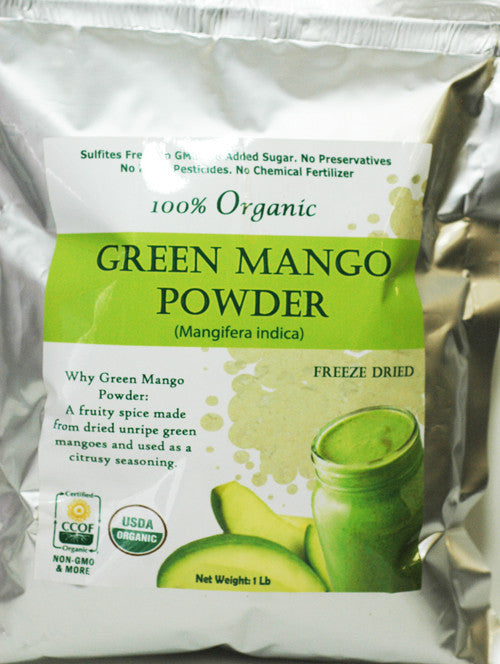 100% Organic Green Mango Powder (Amchoor Powder)