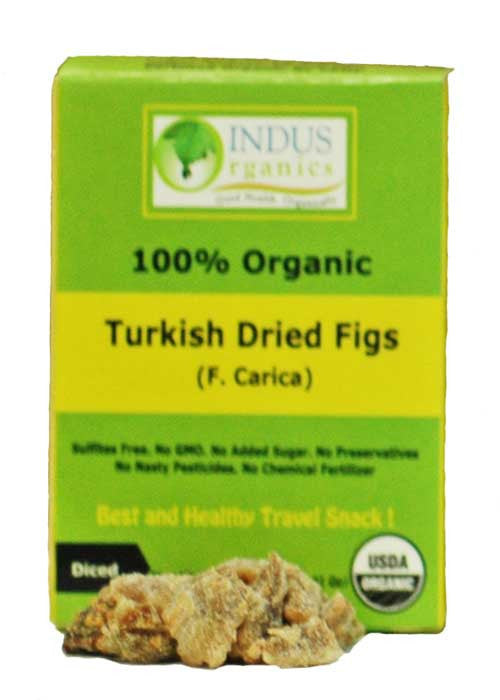 100% Organic Turkish Dried Diced Figs, Retail Pack, Case - Indus Organics