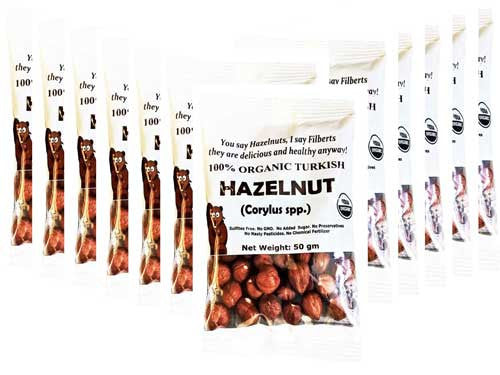 100% Organic Hazelnut, Raw (Pack of 12) - Indus Organics