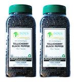 Indus Organics Tellicherry Black Peppercorns 1 Lb (X2 Jars), High Purity & Freshly Packed - Indus Organics