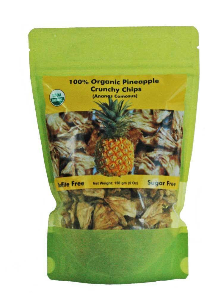 Dried_pineapple_crunchy_chips_5 Oz_Bag