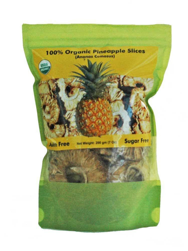 Organic Dried Fruits > Organic Dried Pineapple - Organic Dried Pineapple