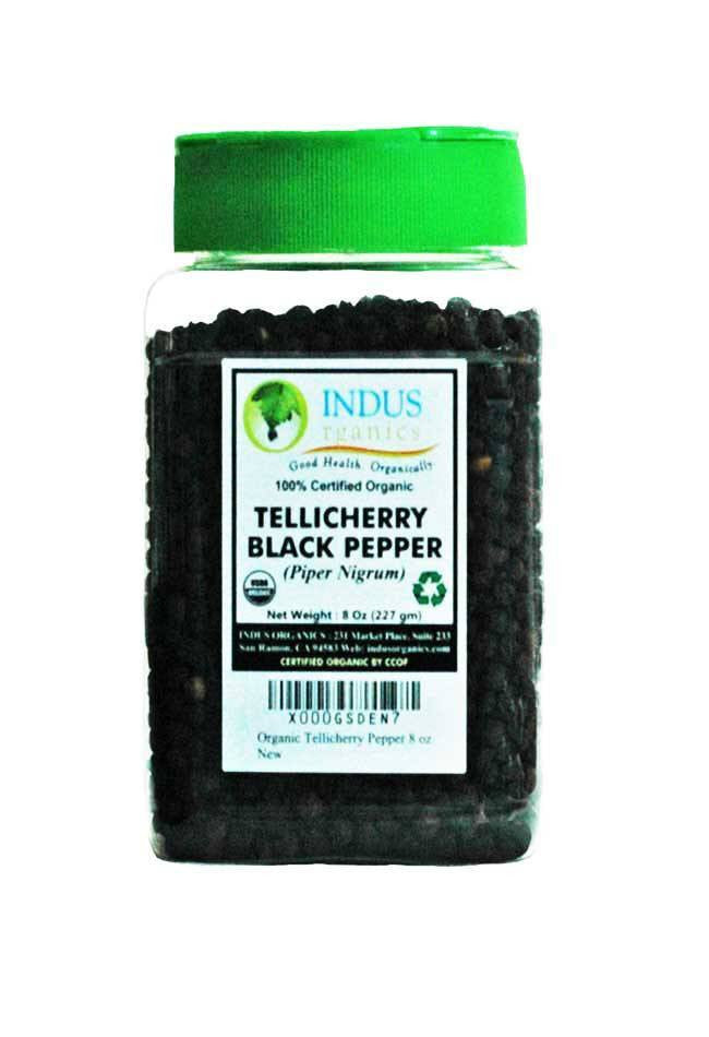 100% Organic Tellicherry Black Peppercorns - Indus Organics