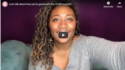 Lets talk about how you're gonna win this $1000 tonight!