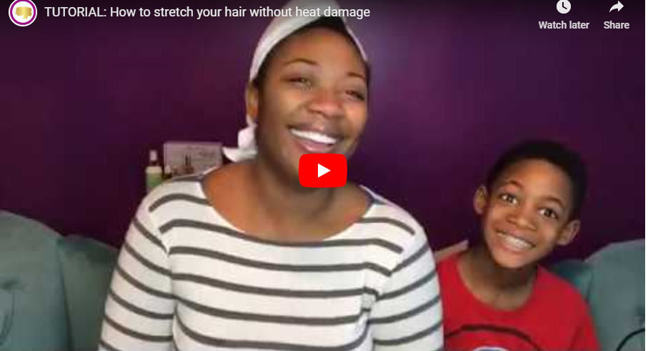TUTORIAL: How to stretch your hair without heat damage