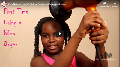 Kids Natural Hair Wash Day Routine with Naturalicious