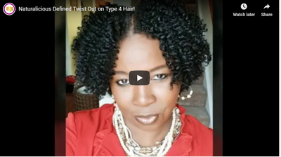 Naturalicious Defined Twist Out on Type 4 Hair