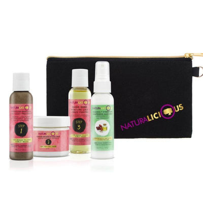 Deluxe Travel Set with Custom Clutch