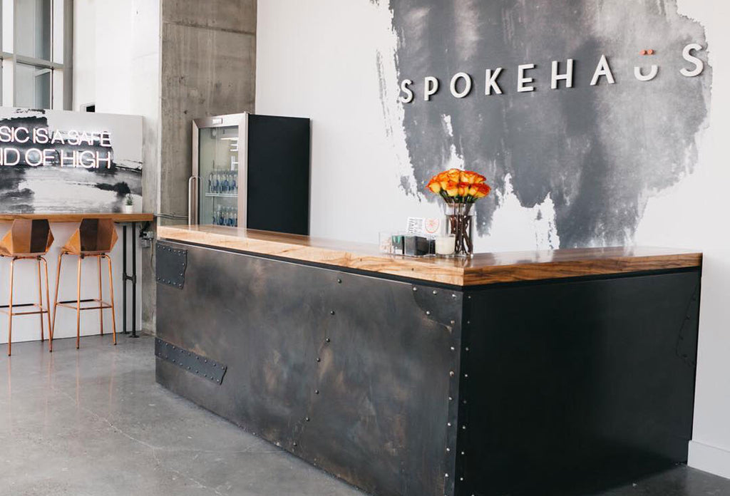Spokehaus Spin Studio Front Desk // HEMM Blog