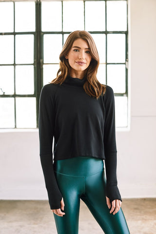 Two Toned Turtleneck Sweatshirt