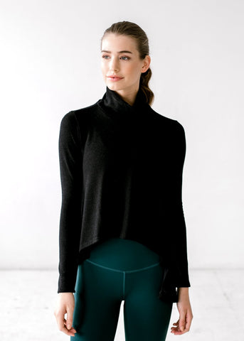 Mock Turtleneck Cape