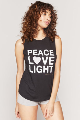 Peace Love Light Muscle Tank