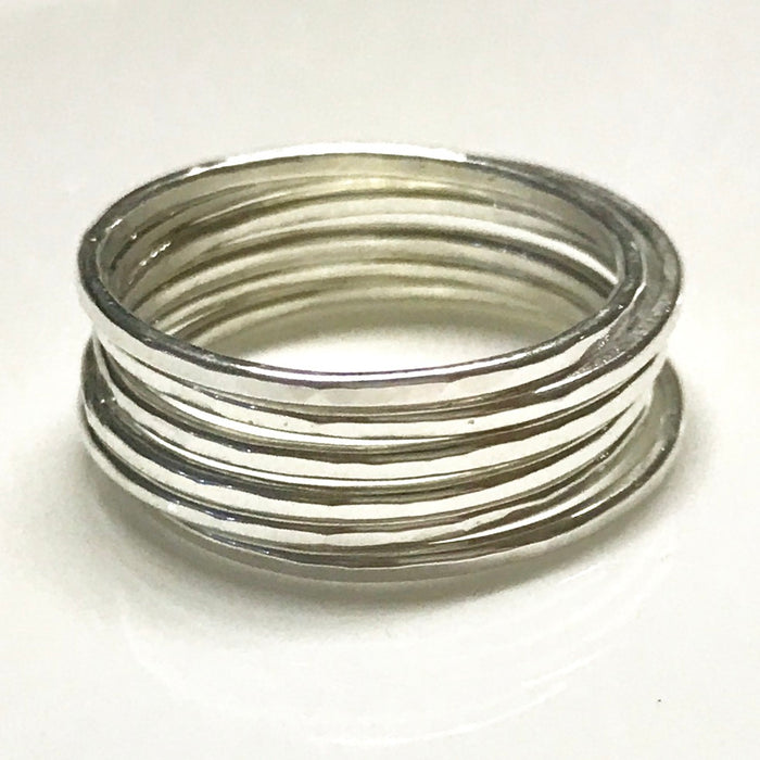 6 Fine Stack Rings