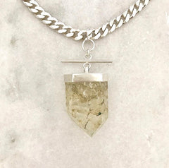 Large Quartz Generator Statement Necklace with chunky chain
