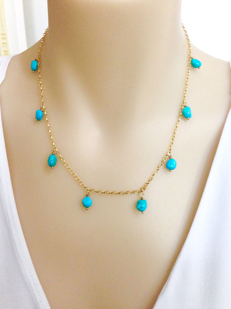 Luxury Boho turquoise necklace