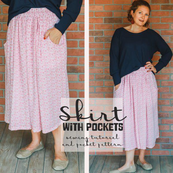 How to Sew a Skirt With Pockets with Emily of Life Sew Savory - Raspberry Creek Fabrics