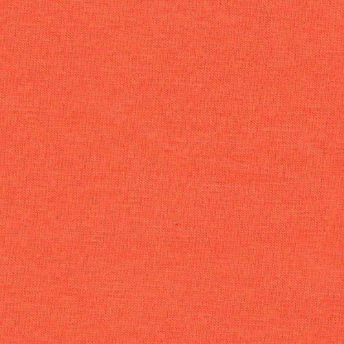 Solid Deep Orange 4 Way Stretch 10 oz Cotton Lycra Jersey Knit Fabric - Raspberry Creek Fabrics