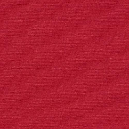 Solid Red 4 Way Stretch 10 oz Cotton Lycra Jersey Knit Fabric, 1 Yard