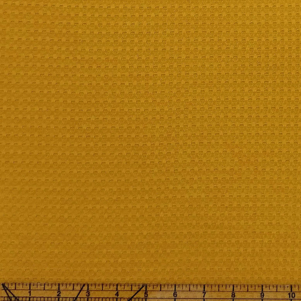 Mustard Yellow Waffle Knit Fabric - Raspberry Creek Fabrics