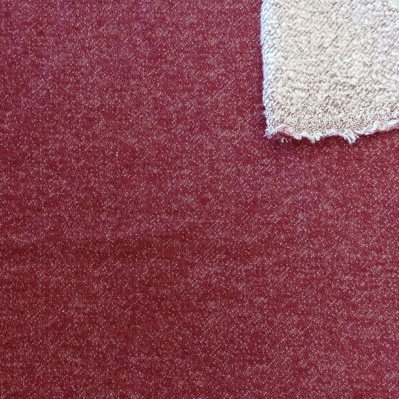 Burgundy Brushed Heathered French Terry Knit Fabric, 1 Yard - Raspberry Creek Fabrics