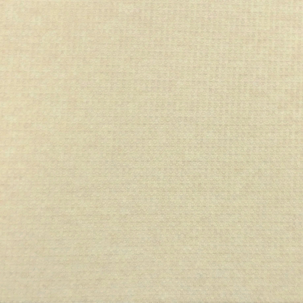 Cream Oatmeal Waffle Knit Fabric, 1 Yard - Raspberry Creek Fabrics
