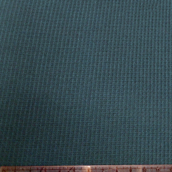 Teal Green Waffle Knit Fabric, 1 Yard - Raspberry Creek Fabrics