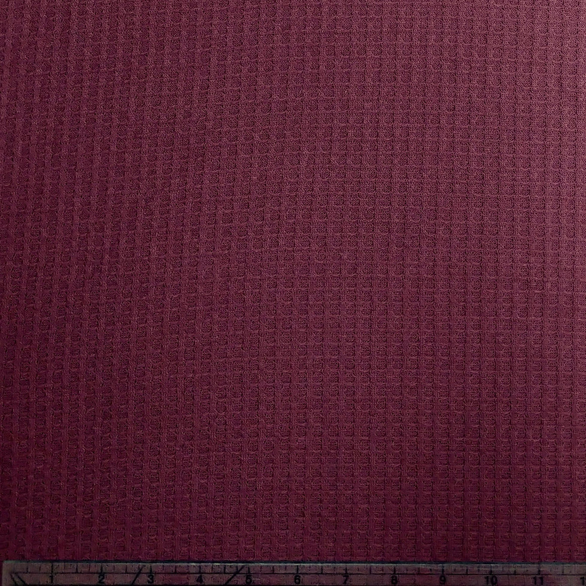 Wine Waffle Knit Fabric, 1 Yard - Raspberry Creek Fabrics