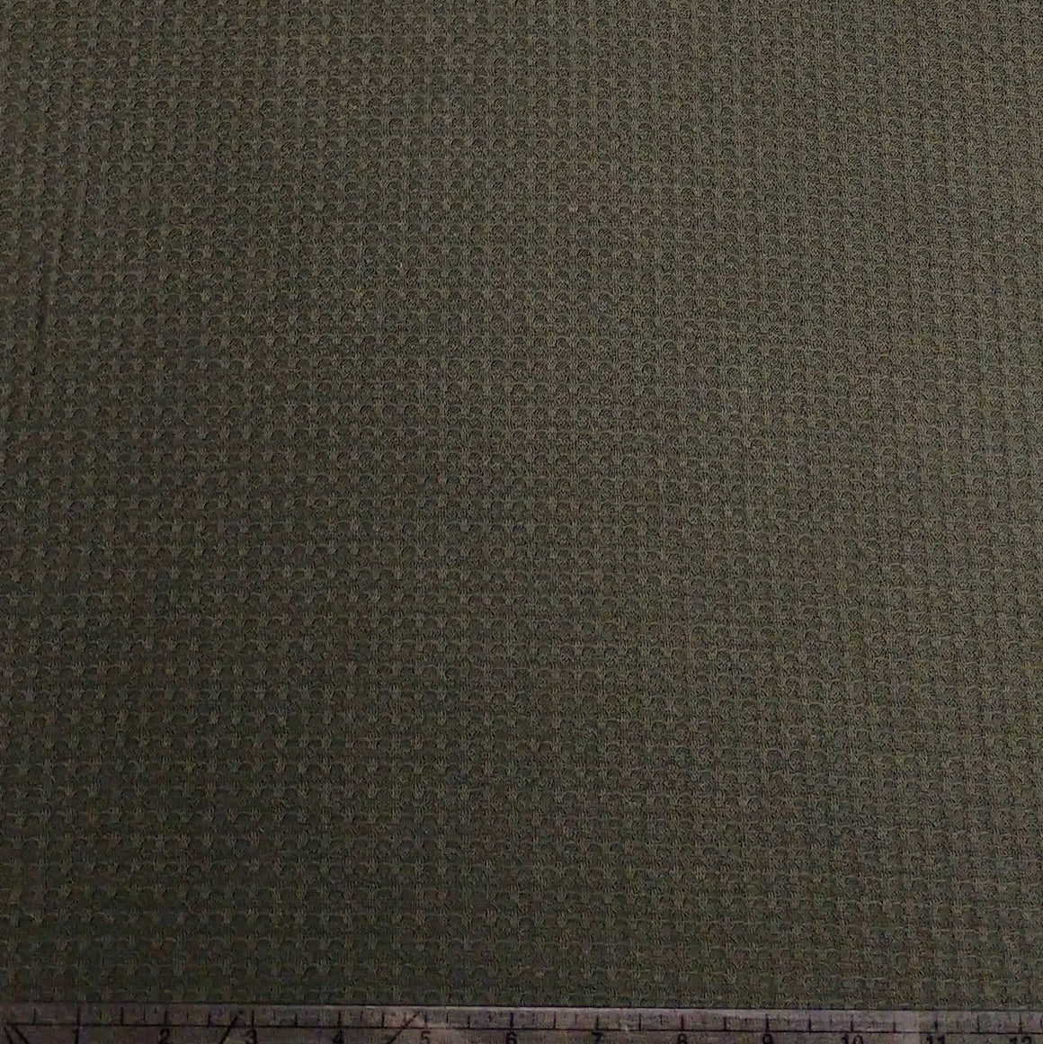 Olive Green Waffle Knit Fabric, 1 Yard - Raspberry Creek Fabrics