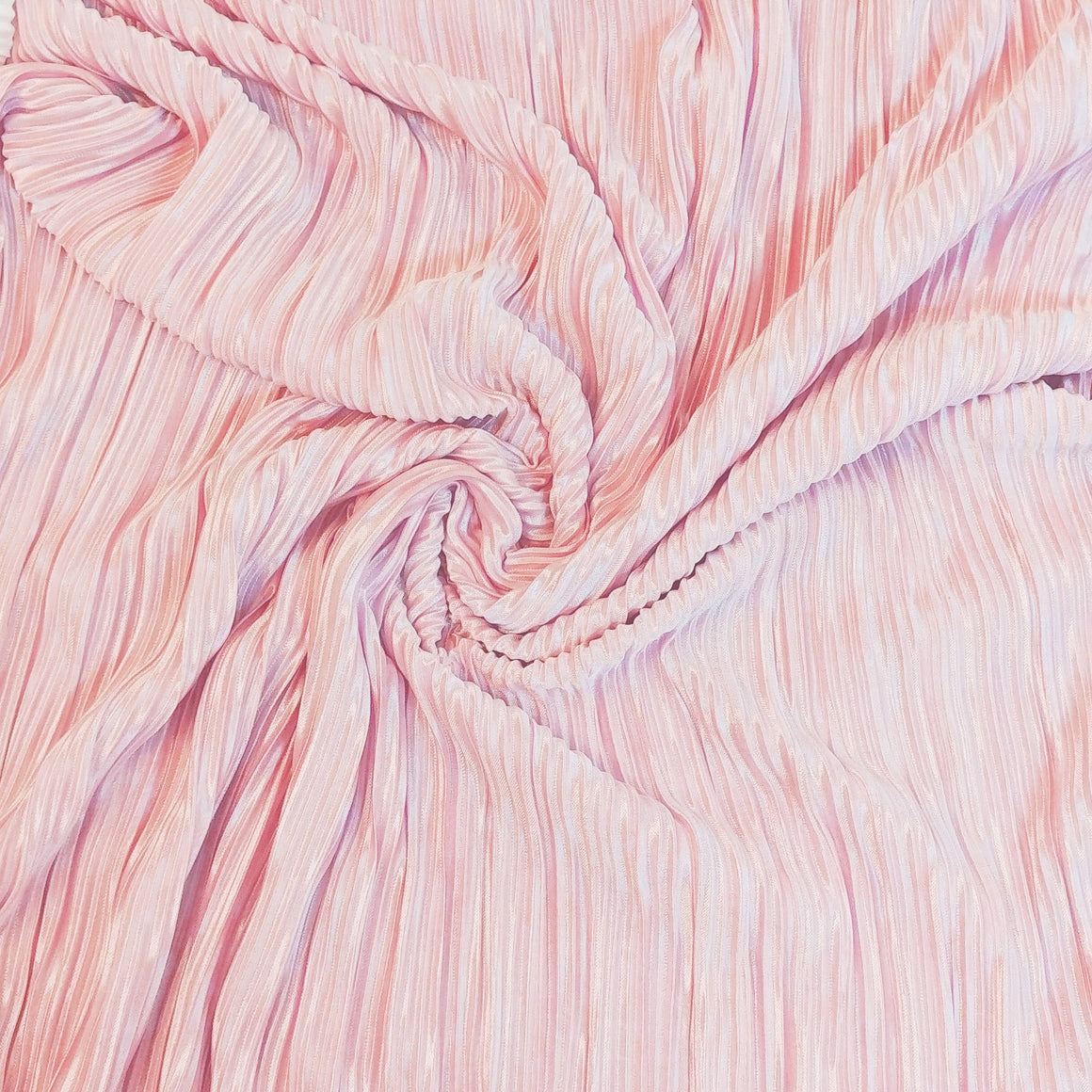 Light Pink Pleated Satin Fabric, 1 yard - Raspberry Creek Fabrics
