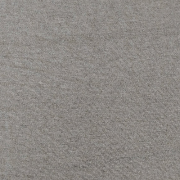 Medium Grey Light Weight Brushed Heathered Hacci Sweater Knit Fabric, 1 Yard - Raspberry Creek Fabrics