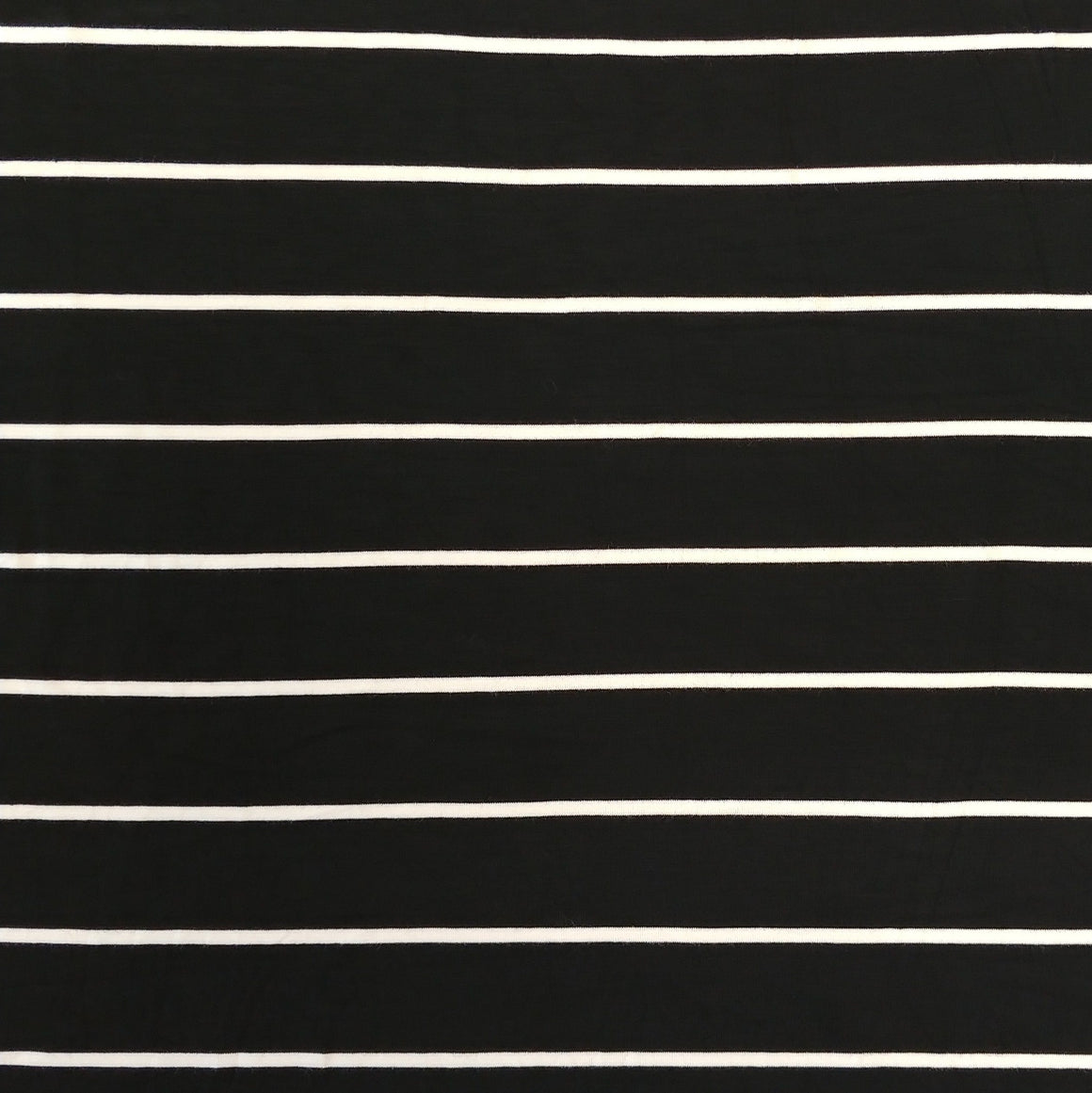 Black and Off White Yarn Dyed Stripe Modal Spandex Jersey Knit Fabric - Raspberry Creek Fabrics