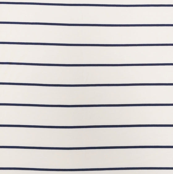 Off White and Deep Navy Yarn Dyed Stripe Modal Spandex Jersey Knit Fabric - Raspberry Creek Fabrics